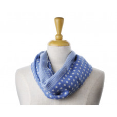 Wool Blue Spot Scarf
