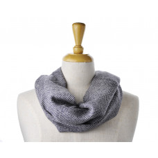 Wool/Cotton Grey Print Scarf