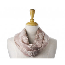 Wool/Cotton Blush Flower Scarf