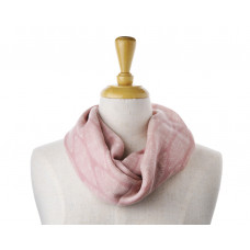 Wool/Cotton Pink Print Scarf