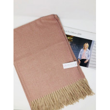 Pink Thick Fringed Scarf