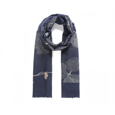 Navy Metallic Brushed Scarf