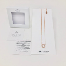 Fine Rose Gold Circle Crystal Necklace