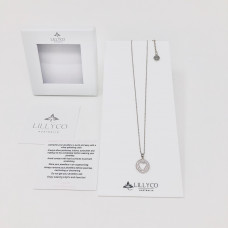 Fine Silver Crystal Heart Necklace