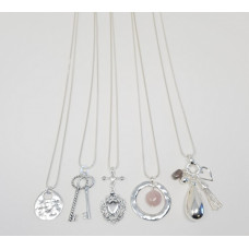 Silver Long Necklace Pack - includes 5 assorted necklaces