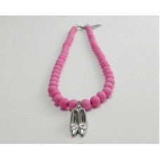 AngelCo Solid Round Pink Necklace