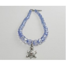AngelCo Clear Shaped Blue Necklace