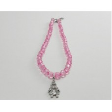AngelCo Clear Shaped Pink Necklace