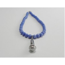 AngelCo Solid Shaped Blue Necklace
