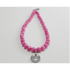 AngelCo Solid Shaped Pink Necklace