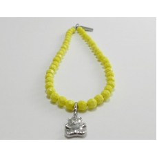 AngelCo Solid Shaped Yellow Necklace