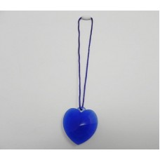 AngelCo Blue Silicone Heart Necklace