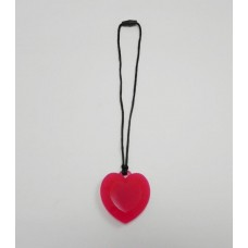 AngelCo Red Silicone Heart Necklace