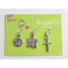 AngelCo 3 Charm Pack - Best Friends, Butterfly, Cross