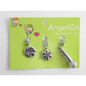 AngelCo 3 Charm Pack - Best Friends, Flower, Microphone