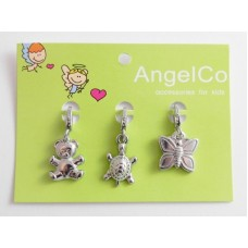 AngelCo 3 Charm Pack - Teddy, Turtle, Butterfly