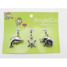 AngelCo 3 Charm Pack - Dolphin, Turtle, Elephant