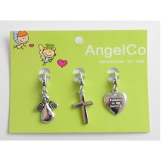 AngelCo 3 Charm Pack - Angel, Cross, Heart