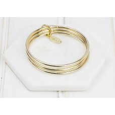 Gold 3 Ring Bangle
