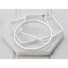 Silver 3 Shape  Bangle
