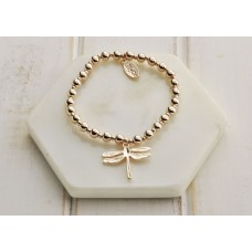 Rose Gold Dragonfly Bracelet - LARGER SIZE BRACELET