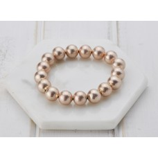 Matt Rose Gold Large Ball Bracelet
