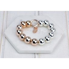 Silver & Rose Gold Mixed Bracelet