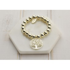 Gold Large Tree Of Life Bracelet
