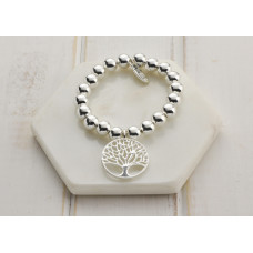 Mixed Rose Gold & Silver Large Tree Bracelet