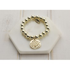 Gold Tree Bead Bracelet