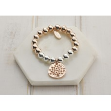 Mixed Silver and Rose Gold Tree Bracelet