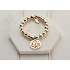Rose Gold Tree Bead Bracelet