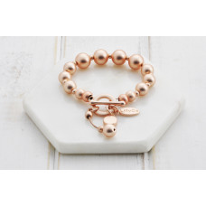 Rose Heart & Disc Bracelet