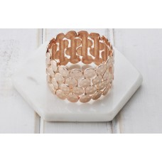 Large Rose Gold Stretch Bangle