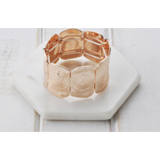 Matt Rose Gold Stretchy Rose Bangle