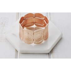 Shiny Rose Gold Stretchy Rose Bangle