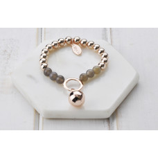 Rose Gold & Grey Stone Bracelet