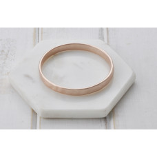 Matt Thick Rose Gold Bangle