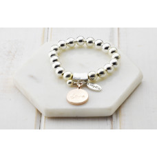 "Silver & Rose Gold ""Love"" Bracelet"