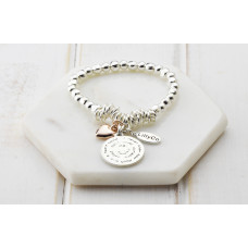 "Rose Gold Heart ""Mummy"" Bracelet"