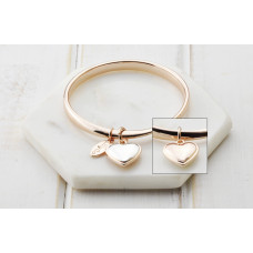 Rose Heart Bangle