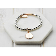 Mixed Rose Gold and Silver Disc Bracelet