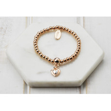 Rose Gold Small Heart Bracelet - in a Box