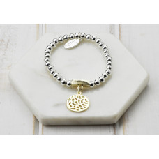 Mixed Cut out Disc Bracelet