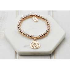 Rose Cut out Disc Bracelet