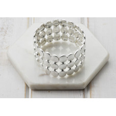 Silver Stretch Wide Bracelet