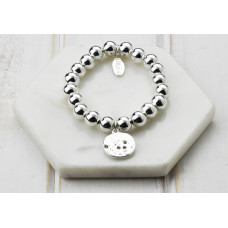 Silver Disc Crystal Bracelet - in a Box