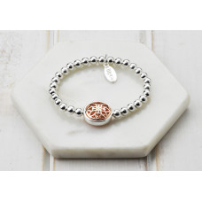 Mixed Scroll Pendant Bracelet