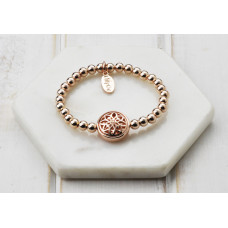 Rose Scroll Pendant Bracelet