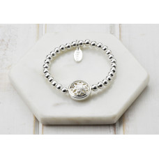 Silver Scroll Pendant Bracelet - in a Box